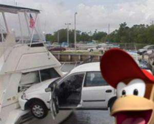 Diddy Kong Car Boat